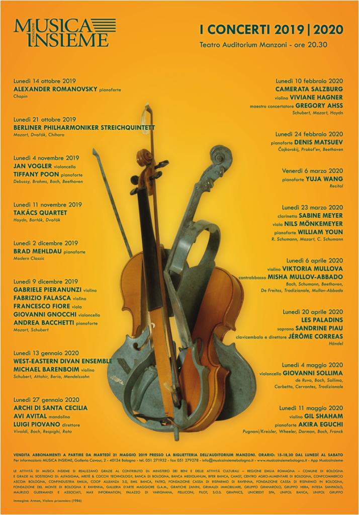 Musica Insieme XXXIII stagione - Le date dei concerti
