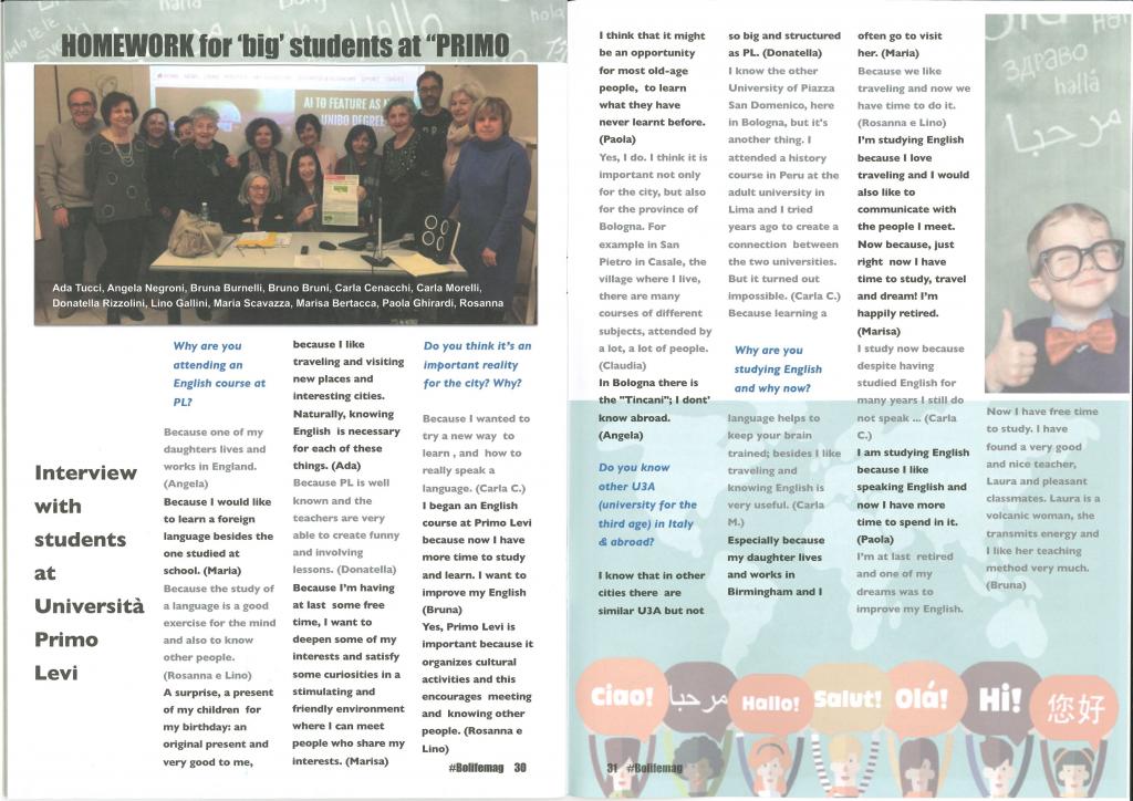 Intervista a studenti della Primo Levi, #bolifemag summer 2019