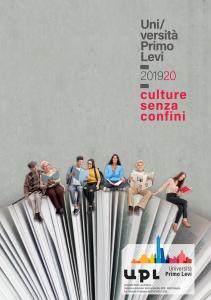 Programma 2019/20 Università Primo Levi