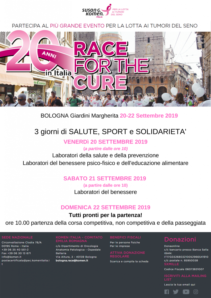 Race for the Cure 2019 a Bologna