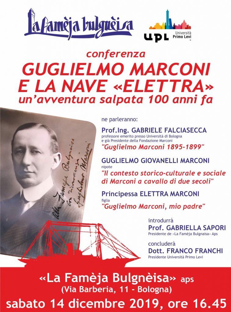 Guglielmo Marconi e la nave Elettra: un'avventura salpata 100 anni fa - sabato 14 dicembre 2019