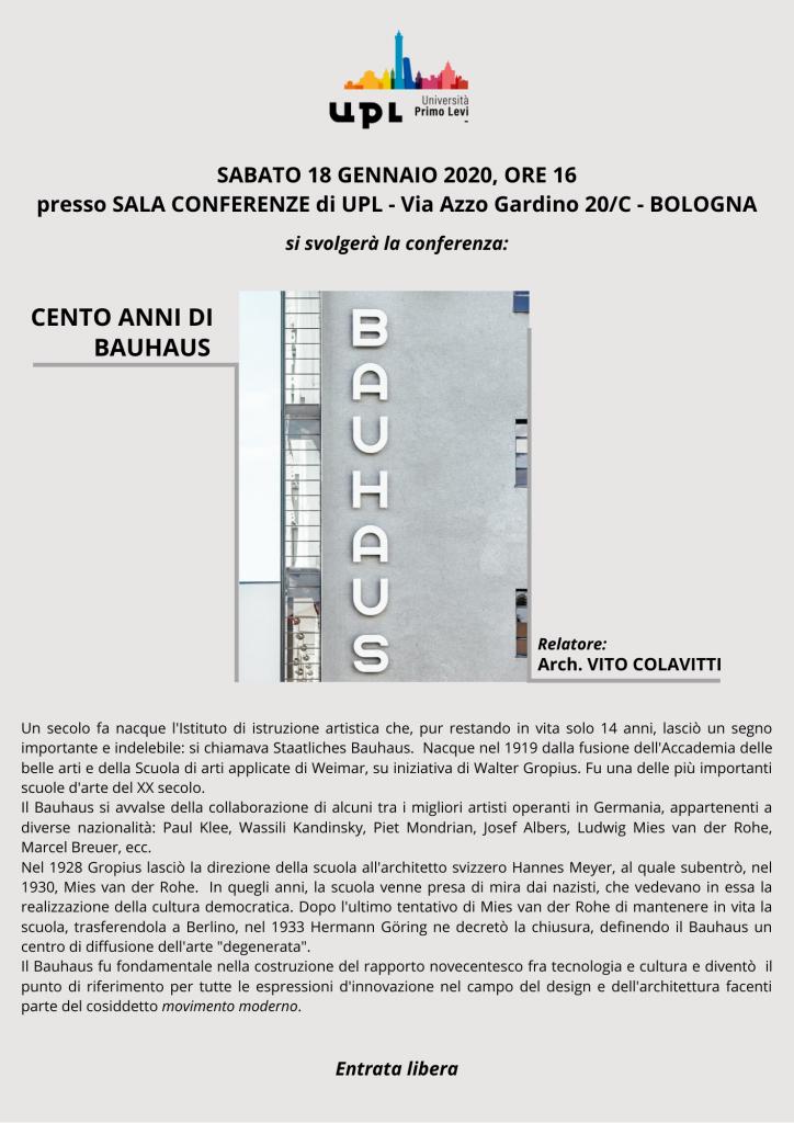 Cento anni di Bauhaus - Arch. Vito Colavitti