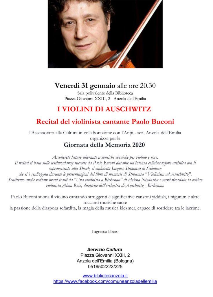 Recital - 31 gennaio 2020 - Paolo Buconi