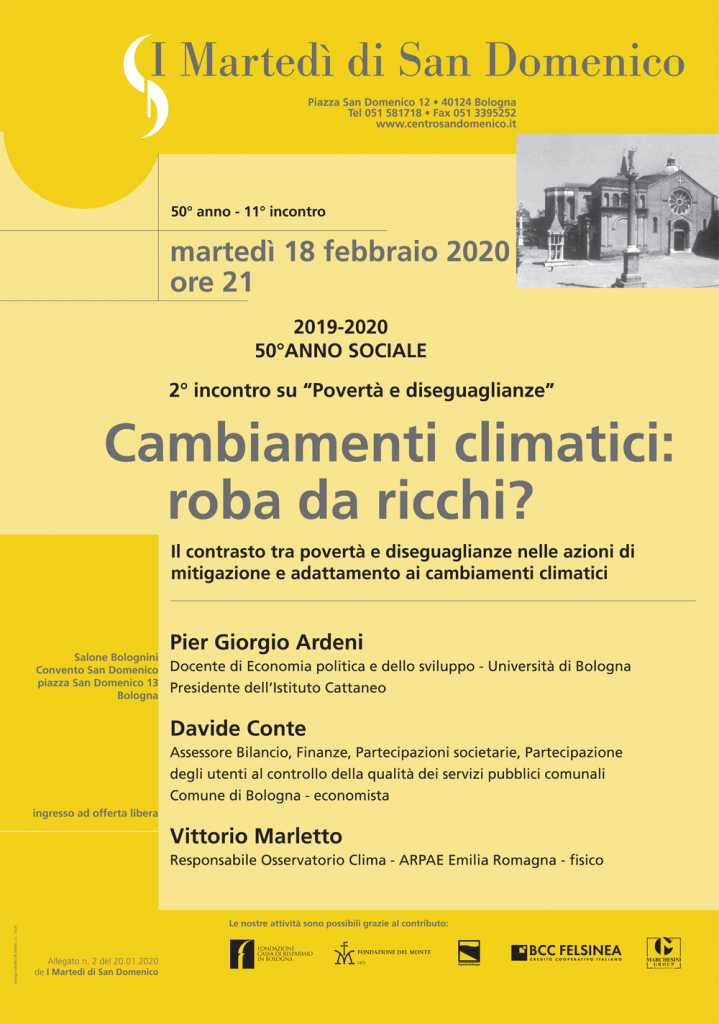 Cambiamenti climatici: roba da ricchi? - martedì 18 febbraio 2020