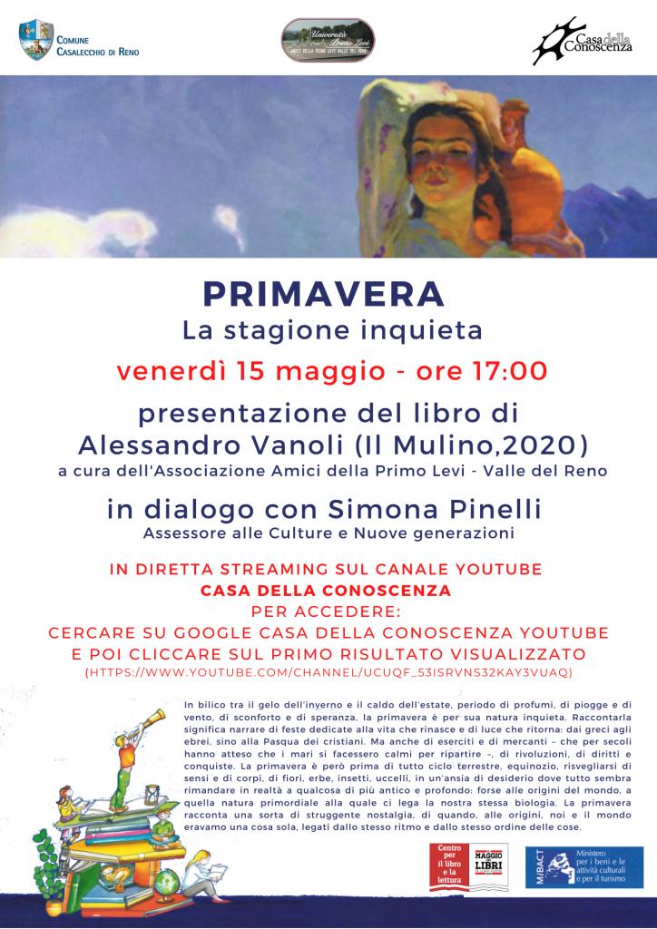 """Alessandro Vanoli presenta il libro """"Primavera. La stagione inquieta"""""""