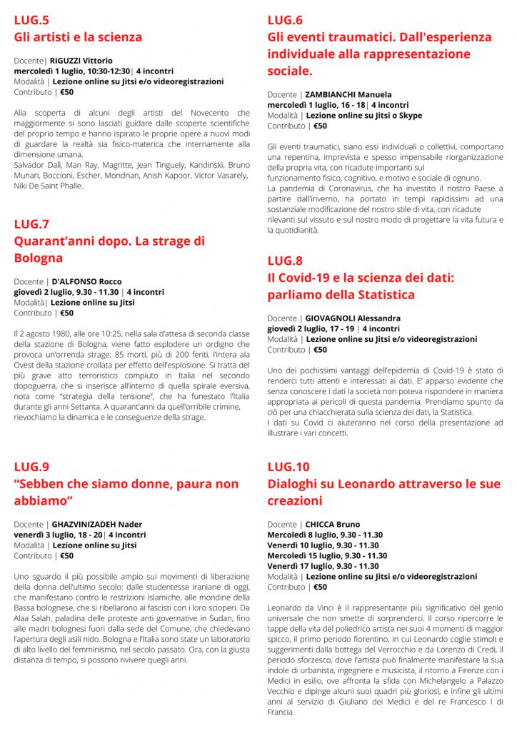 Mini corsi 2020 - UPL