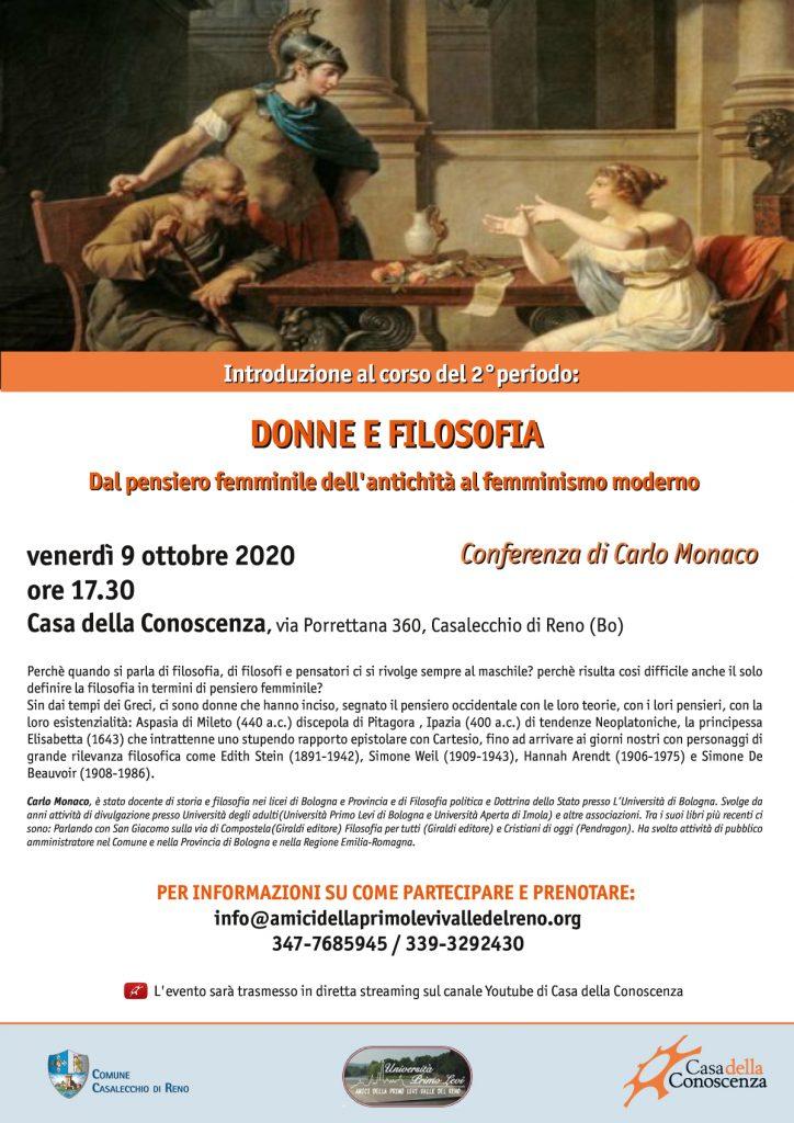 Donne e Filosofia - Carlo Monaco, Casa della Conoscenza di Casalecchio di Reno