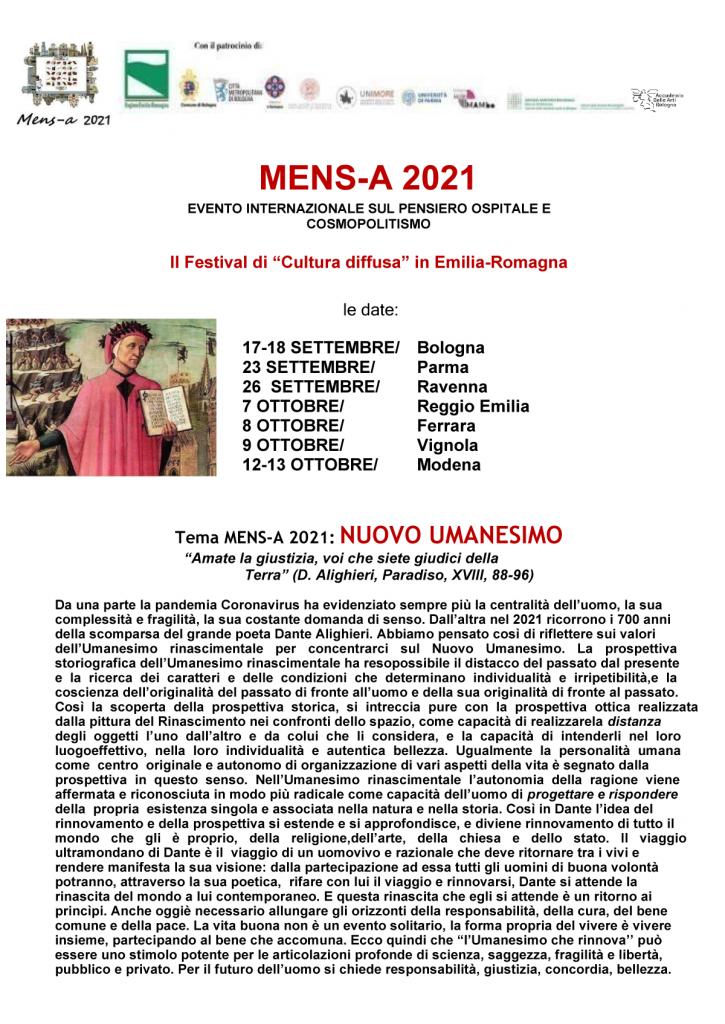 MENS-A 2021 - Festival della Cultura diffusa