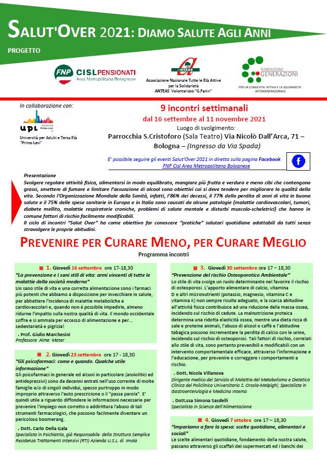 SalutOver 2021 - FNP CISL Bologna