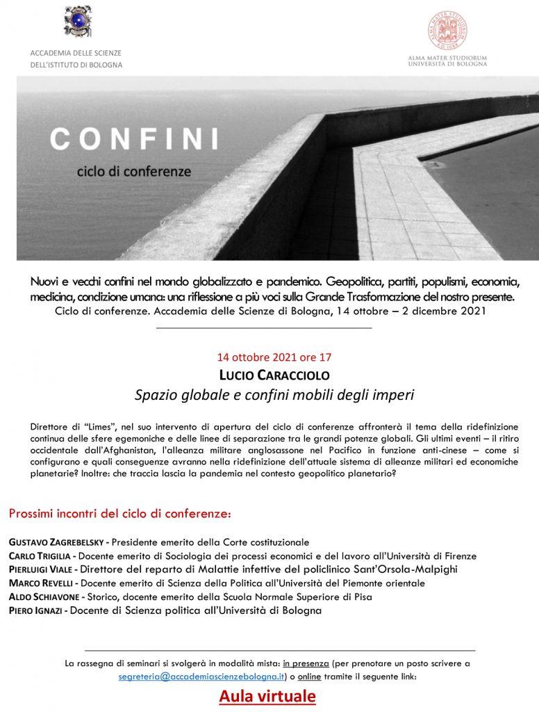 """Lucio Caracciolo - Seminario """"Confini"""" - Accademia delle Scienze dell'Istituto di Bologna"""